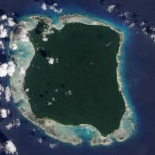 North Sentinel Island seen from space